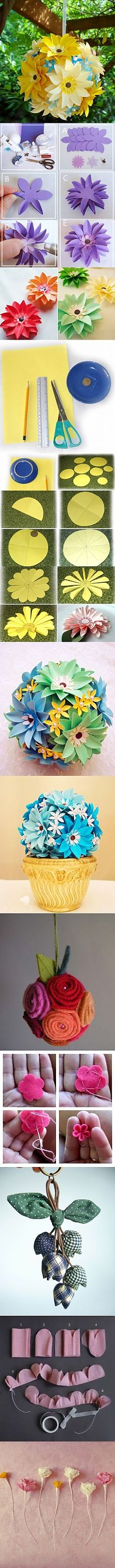 flores artificiales on Pinterest | Felt Flowers, Felt Roses and Felt Flower Tutorial