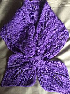 Leaves and Cables Scarf pattern by Christy Hills